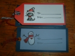 Various gift tags by